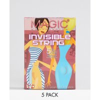 Magic Invisible string 5 pack thong - Beige