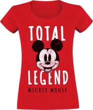 Mickey Mouse - Total Legend -T-skjorte - rød
