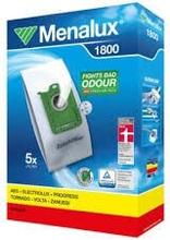 MENALUX Dammsugarpåsar 1800 Syntet 5-pack + filter