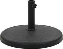 vidaXL Parasollfot rund polyresin 19 kg svart