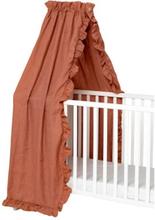 NG Baby, Mood Ruffles Sänghimmel 155 x 230 cm Terracotta