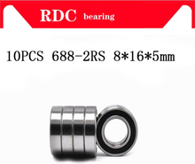 10PCS ABEC-5 688-2RS High quality 688RS 688 2RS RS L1680 8x16x5 mm Miniature double Rubber seal Deep Groove Ball Bearing