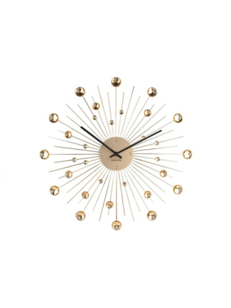 Sunbrust Crystal Wall Clock