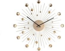 Sunbrust Crystal Wall Clock