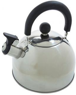 Vissande vattenkokare 2 liter rostfritt stål silver / svart