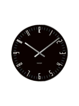 Slim Glass Wall Clock