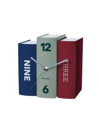 Paper Book Table Clock
