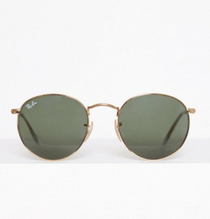 Ray Ban Round Metal Solbriller Gold/Black