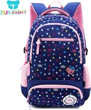 SUN EIGHT Big Capacity New Daisy Printing Girl School Bag Kid Backpack Zipper Backpacks School Bags For Teenagers Girls