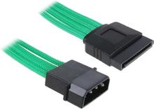 Molex till SATA Adapter 45cm - Sleeved Green/Black