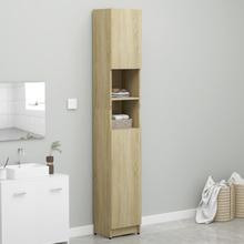 Badeværelsesskab 32x25,5x190 cm spånplade sonoma-egetræsfarve