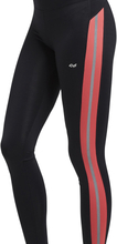 Shape Stripe tights, Coral / S