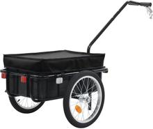 vidaXL Cykelvagnhandkärra 155x61x83 cm stål svart
