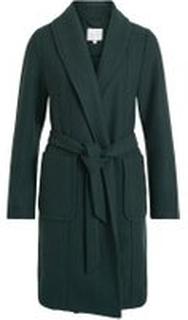 VILA Bindebånd Frakke Kvinder Grøn