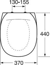 Gustavsberg Toalettsits D-6 Universalsits Vit