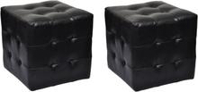 vidaXL Fotpall 2 st 30 x 30 cm svart