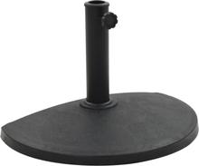 vidaXL parasolfod rund polyresin 9 kg sort