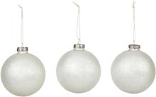 Broste Copenhagen Jul Glitter Julekule Sølv 3stk