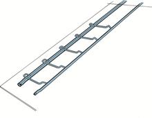 Skeppshultstegen Fästjärn Takstege Standard stål, Vikt(kg): 0,85