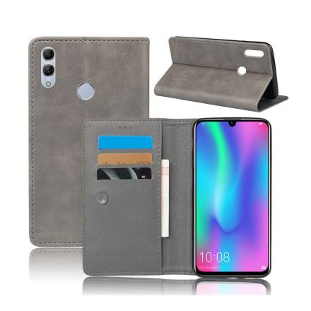 Crazy Horse Huawei P Smart 2019 leather flip case - Grey