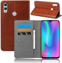 Crazy Horse Huawei P Smart 2019 leather flip case - Brown