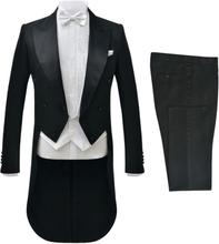 vidaXL gallatøj kjole og hvidt til mænd sort str. 46
