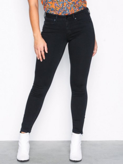 Noisy May Nmkimmy Nw Ankle Zip Jeans Black No Jeans Svart