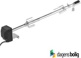 Rotisseri spyd, rustfri stål 1000 mm, med motor