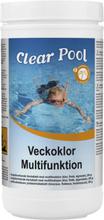 Clear Pool Veckoklor Multifunktion 200g tabletter, 10 kg