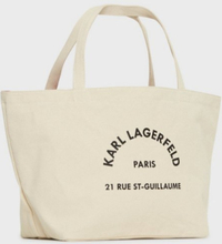Karl Lagerfeld K/Rue St Guillaume Canvas Tote