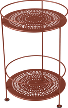 Fermob - Guinguette Perforated Side Table Ø40 cm, Red Ochre
