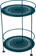 Fermob - Guinguette Perforated Side Table Ø40 cm, Acapulco Blue