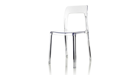 Pudeln - Stol i polykarbonat - Transparent
