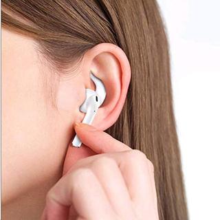 Silicone ørekroge til Apple AirPods - hvide-sætpris