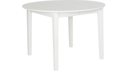 Svalan - Matbord med iläggsskivor - Vit