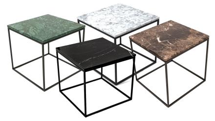 Jaguaren - Soffbord i marmor 50x50cm - Svart