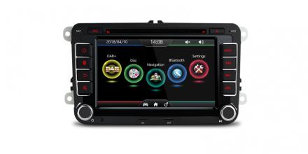 DAB+ spiller med GPS til Volkswagen med GPS 7