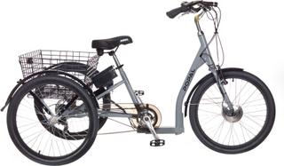 Elektrisk sykkel med 3 hjul - Tricycle - grå