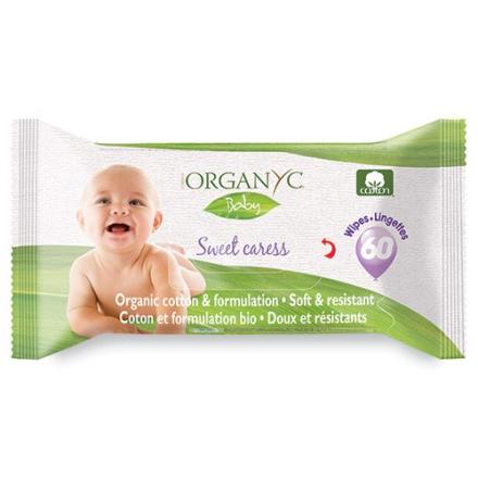 Organyc vådservietter Baby, 60stk