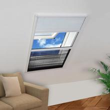 vidaXL Plisserat insektsnät med jalusi för fönster 60x80 cm aluminium