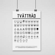 Poster, Tvättråd (18x24 cm)