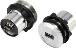 Micro-USB-tilslutning 2.0, kan indbygges Tilslutning, indbygning Micro USB-01 Micro USB-tilslutning til Micro USB-stik TRU COMPONENTS Indhold: 1 stk