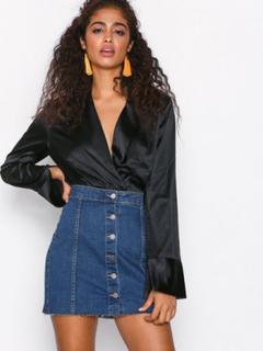 Gina Tricot Miranda denim skirt Minikjolar Mid Blue