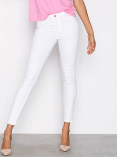 Gina Tricot Molly High Waist Jeans Slim Offwhite