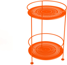 Fermob - Guinguette Side Table Perforated Ø40 cm, Carrot