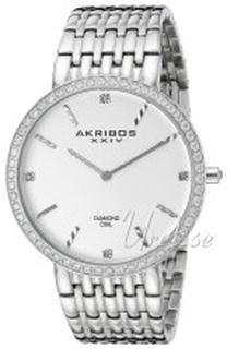 Akribos XXIV AK866SS Diamond Sølvfarget/Stål Ø42 mm