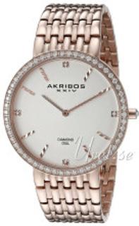 Akribos XXIV AK866RG Diamond Sølvfarget/Rose-gulltonet stål Ø42 mm