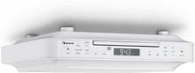 KRCD-100 BT kök-underskåps-radio CD MP3 radio vit