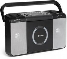 Boomtown USB CD-Spelare FM Radio MP3 Bärbar Kofferradio Bergsprängare svart