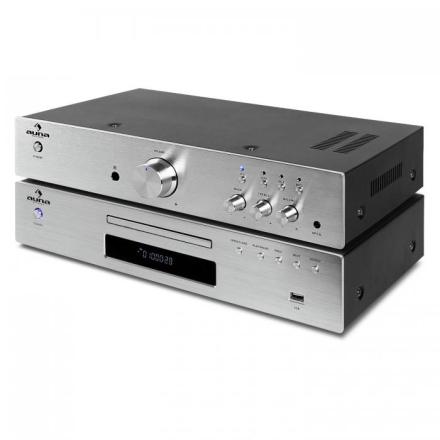 "Elegance Tower"" 2.0 HiFi Set CD-Player USB 600W Stereo-RCA Digital-Out"